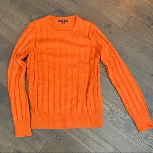 GAP Orange Cable-Knit Sweater, Sz Medium